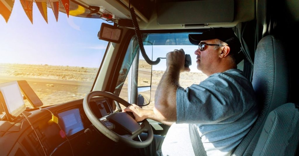 driving a right-handed truck