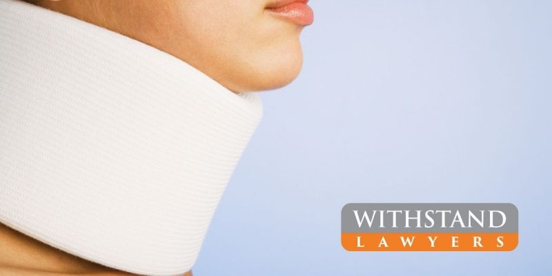 neck injury woman and withstand lawyers logo